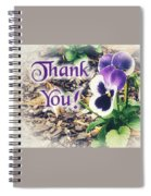 Thank You Pansy Spiral Notebook
