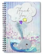 Thank You - Whale  Spiral Notebook