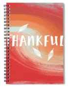 Thankful- Art By Linda Woods Spiral Notebook