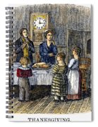 Thanksgiving, 1853 Spiral Notebook