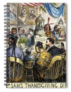 Thanksgiving Cartoon, 1869 Spiral Notebook