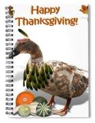 Thanksgiving Indian Duck Spiral Notebook