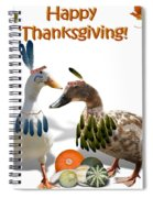 Thanksgiving Indian Ducks Spiral Notebook