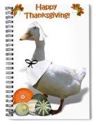 Thanksgiving Pilgrim Duck Spiral Notebook