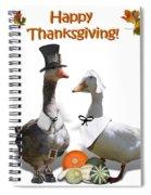 Thanksgiving Pilgrim Ducks Spiral Notebook