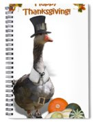Thanksgiving Pilgrim Goose Spiral Notebook