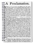 Thanksgiving Proclamation Spiral Notebook