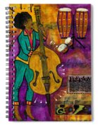 That Sistah On The Bass Spiral Notebook