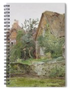 Thatched Cottages And Cottage Gardens Spiral Notebook