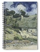Thatched Cottages At Cordeville Spiral Notebook