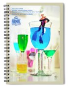 The 1-18 Animal Rescue Team - Cat In Cocktail Glass Spiral Notebook