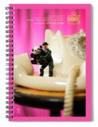 The 1-18 Animal Rescue Team - Panda Phone Home, Retro Telephone Spiral Notebook