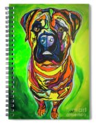 The Abstract Mastiff Spiral Notebook