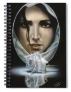 The Face In The Mirror Spiral Notebook