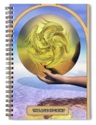 The Ace Of Coins Spiral Notebook