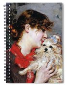 The Actress Rejane And Her Dog Spiral Notebook