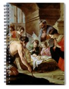 The Adoration Of The Shepherds Spiral Notebook
