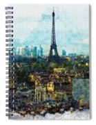 The Aesthetic Beauty Of Paris Tranquil Landscape Spiral Notebook