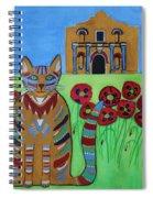 the Alamo Cat Spiral Notebook
