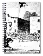 The Alamo Fort At San Antonio Spiral Notebook