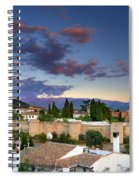 The Alhambra Palace And Albaicin At Sunset Spiral Notebook