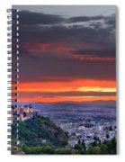 The Alhambra And Granada City Spiral Notebook