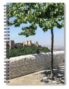 The Alhambra From Sacromonte Spiral Notebook