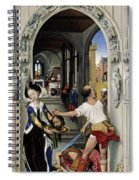 The Altar Of St. John, Right Panel Spiral Notebook