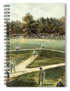 The American National Game Of Baseball Grand Match At Elysian Fields Spiral Notebook