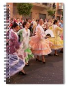 The Andalusian Fair, A Party In The Streets Spiral Notebook