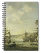 The Anglo Dutch Fleet In The Bay Of Algier Spiral Notebook
