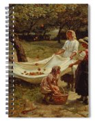 The Apple Gatherers Spiral Notebook