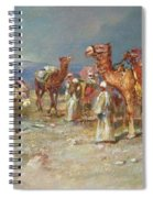 The Arab Caravan   Spiral Notebook