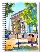 The Arc De Triomphe Paris Spiral Notebook