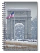 The Arch At Valley Forge Spiral Notebook