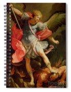The Archangel Michael Defeating Satan Spiral Notebook