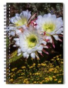 The Argentine Giant Amongts The Yellow Wildflowers Spiral Notebook