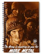 The Army Is Counting On You  Spiral Notebook