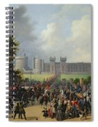 The Arrival Of Louis-philippe Spiral Notebook