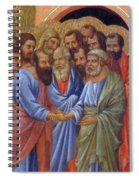The Arrival Of The Apostles To The Virgin Fragment 1311 Spiral Notebook