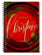 The Art Of Vhristmas Cheer Spiral Notebook