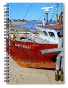 The Artemis Aground Spiral Notebook