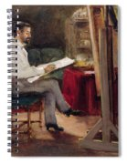The Artist Morot In His Studio Spiral Notebook