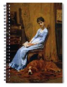 The Artist Wife And His Setter Dog 1889 Spiral Notebook
