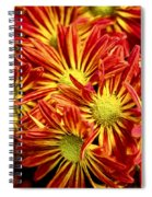 Chrysanthemum Bouquet Spiral Notebook
