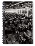 The Assembly Plant Of The Bell Aircraft Corporation In 1944 Spiral Notebook
