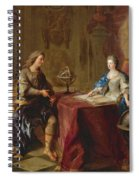 The Astronomy Lesson Of The Duchesse Du Maine Spiral Notebook