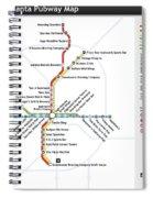 The Atlanta Pubway Map Spiral Notebook