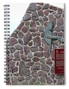 The Atlantic Charter Monument Closeup Spiral Notebook