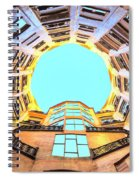 The Atrium At Casa Mila Spiral Notebook